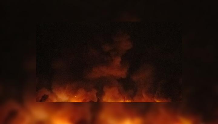 С территории горящей воинской части эвакуировано более 2000 человек
