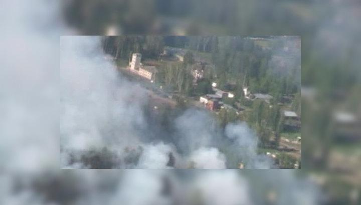 Частота взрывов на горящем арсенале увеличилась