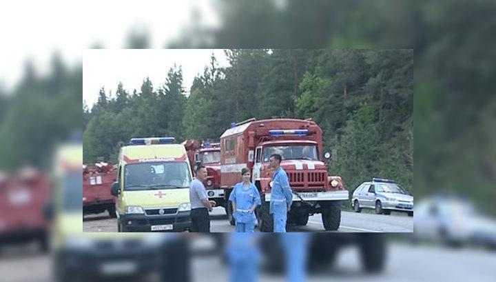На удмуртском арсенале пожарные справились с открытым огнем