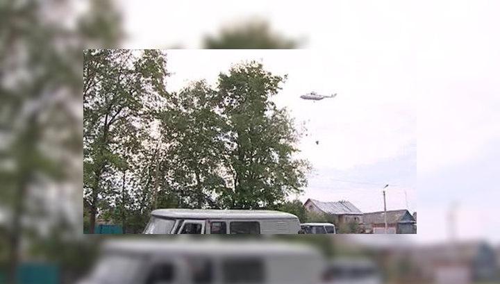 Авиация сбросила на арсенал в Пугачево почти 1000 тонн воды