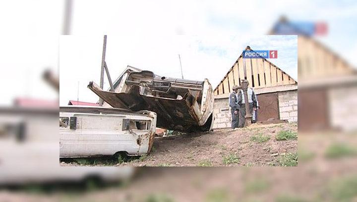 Улицы поселка Пугачево напоминают район боевых действий