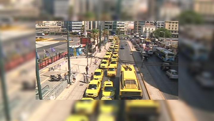 В Греции не стихают акции протеста водителей такси