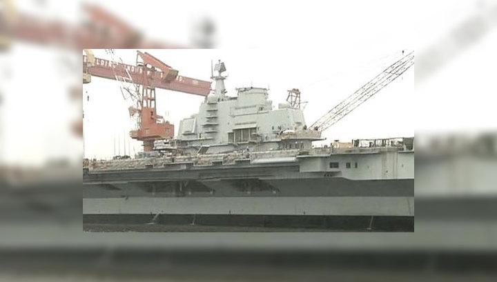 """В море вышел первый китайский авианосец, переделанный из """"Варяга"""""""