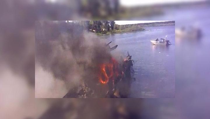 Гибель Як-42 под Ярославлем: первое видео с места авиакатастрофы