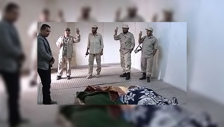 Зрителям закрыли доступ к телу Каддафи