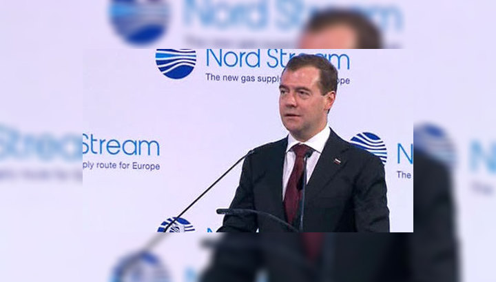 """Медведев в Любмине открывает """"Северный поток"""""""