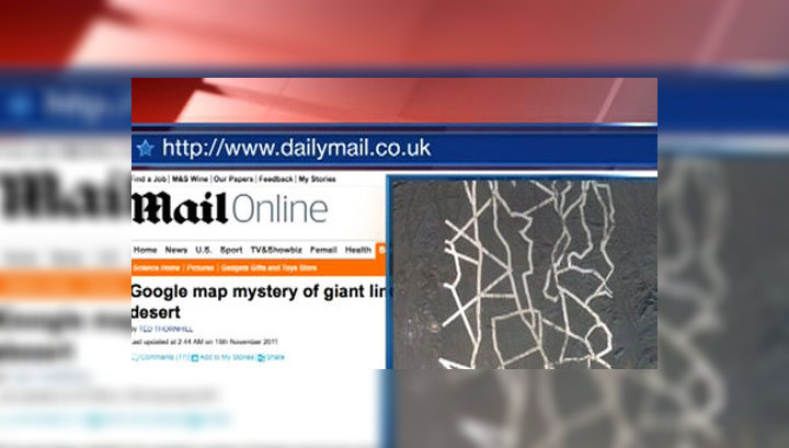 Спутник Google обнаружил странные объекты в пустыне Гоби