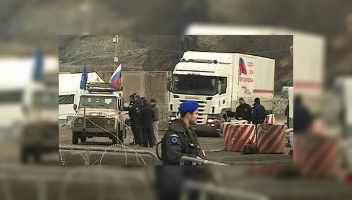 Полиция не пропускает конвой МЧС в Косово