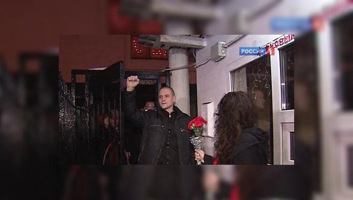 Оппозиционер Удальцов отпущен из-под ареста