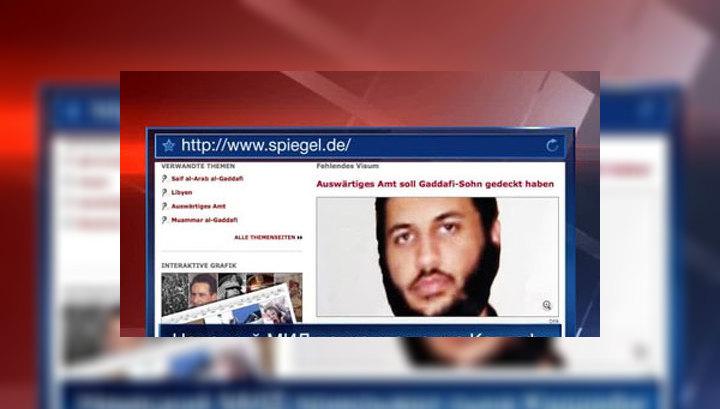 Немецкие СМИ: сын Каддафи жил под прикрытием разведки ФРГ