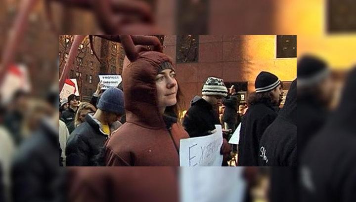 Ньюйоркцы протестуют против цензуры в Интернете