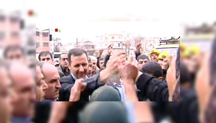 В Хомсе обстреляли кортеж президента Сирии