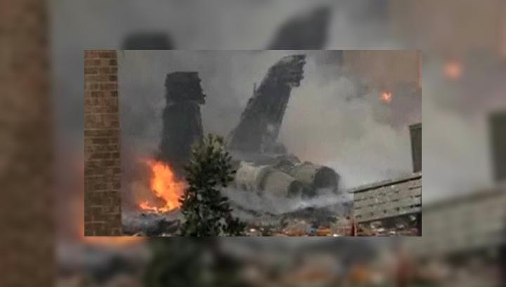 При падении американского истребителя пострадали не менее 6 человек