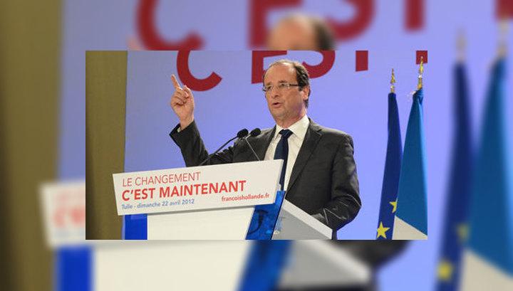 Олланд лидирует на президентских выборах во Франции