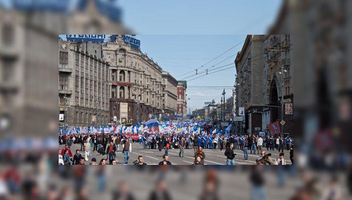 Первомайское шествие профсоюзов собрало 150 тысяч участников
