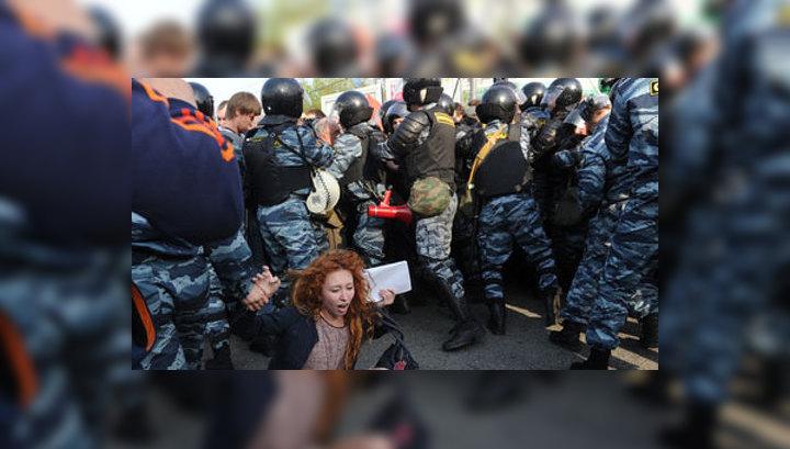 Около 450 человек задержаны в различных районах Москвы