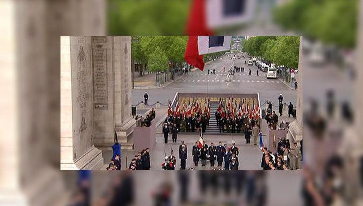 Саркози и Олланд приняли участие в праздновании 67-й годовщины окончания войны