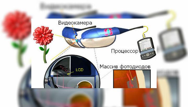 Американские учёные разработали новый тип протезов сетчатки глаза, который заряжается на свету и требует меньше вспомогательного оборудования, чем все существующие на данный момент аналоги (иллюстрация Palanker Lab).