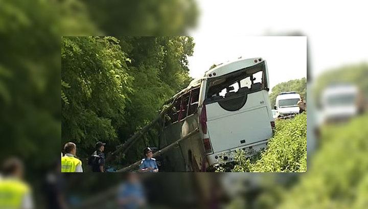 На Украине водителя автобуса с паломниками поместили в ИВС