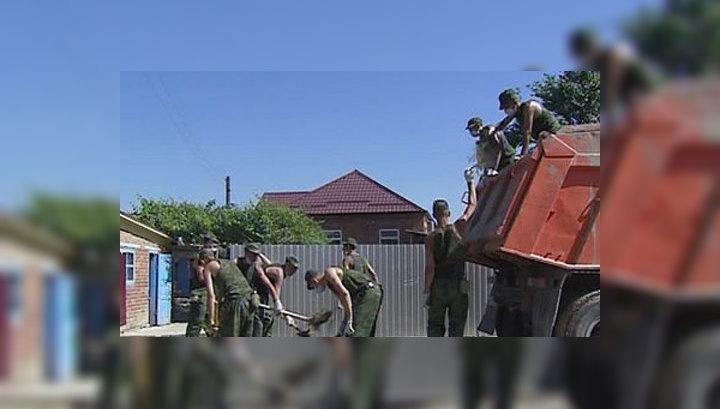 Краснодарские строители начали ремонтировать дома в Крымске