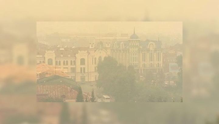 Смог в Томске: самолеты садятся на запасных аэродромах