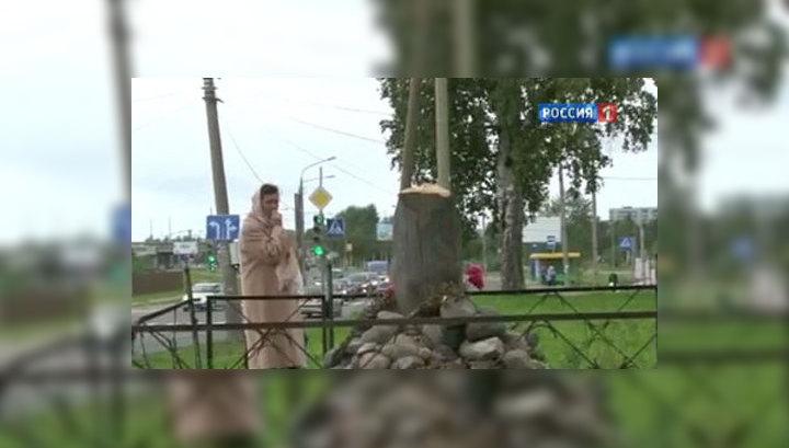 Под Челябинском спилены три поклонных креста