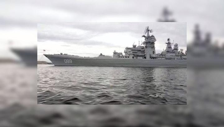"""""""Петр Великий"""" возвращается из Арктики"""