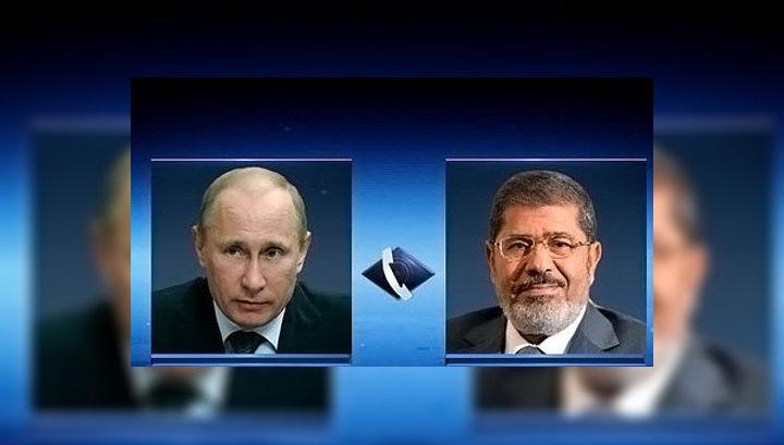 Владимир Путин и Мухаммед Мурси обсудили конфликт Израиля и Газы