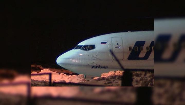 В Уфе Boeing выкатился за пределы взлетной полосы