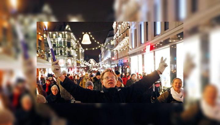 В Осло прошла акция протеста против присуждения Евросоюзу Нобелевской премии