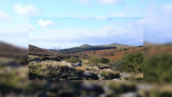 """Захоронение расположено в юго-западной части Великобритании в Дартмуре, на территории графства Девоншир, местечке известном по повести Артура Конан Дойля  """"Собака Баскервиллей"""""""