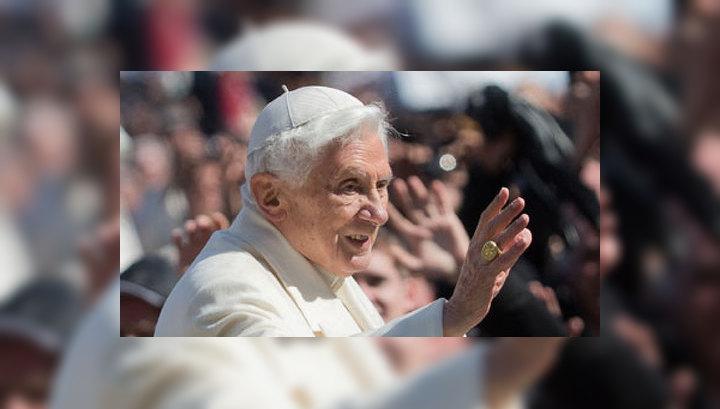 Папа римский Бенедикт XVI через несколько часов покинет Ватикан