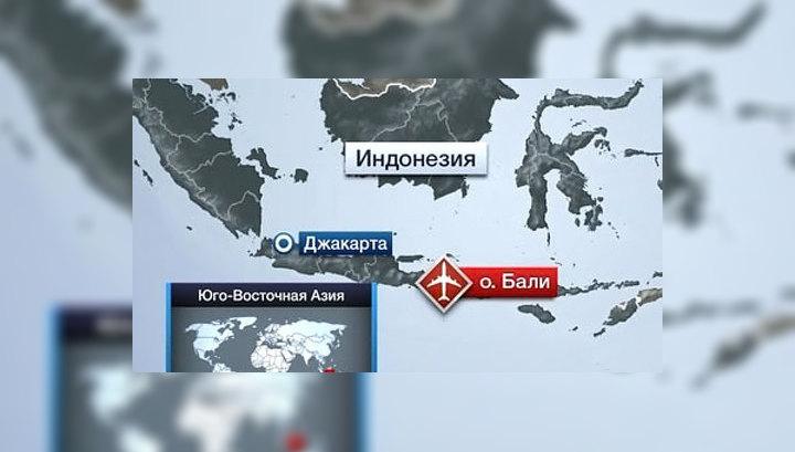Пассажирский лайнер выкатился в море на острове Бали
