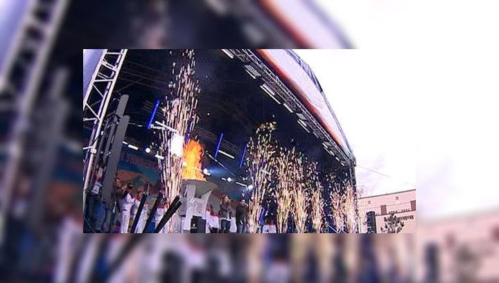 Красноярск встретил огонь казанской Универсиады