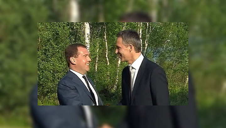 Дмитрий Медведев прибыл в Норвегию