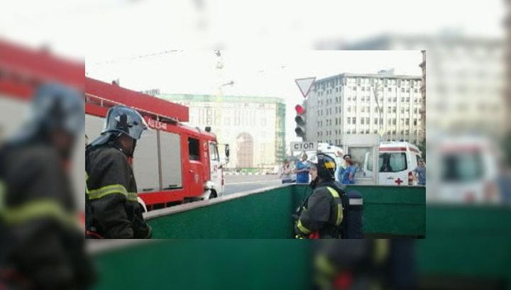 Пожар в метро: на Большой Дмитровке перекрыто движение