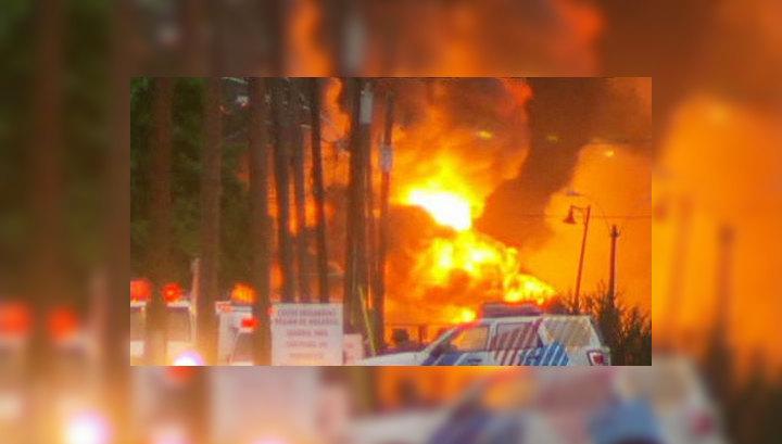 Взрыв поезда с нефтью в Канаде: трое погибли, 80 пропали