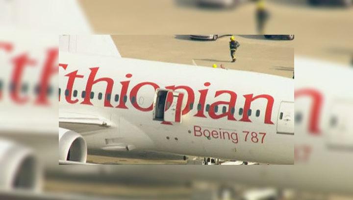 В лондонском аэропорту Хитроу горит эфиопский самолет