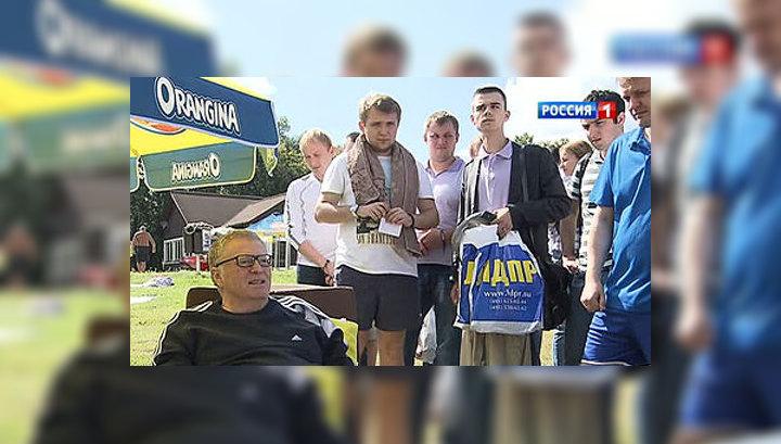 Жириновский показал предвыборный мастер-класс на пляже