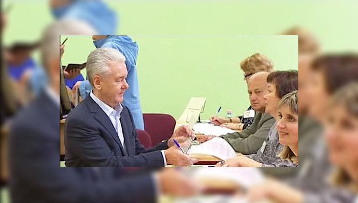 Сергей Собянин проголосовал на выборах мэра Москвы