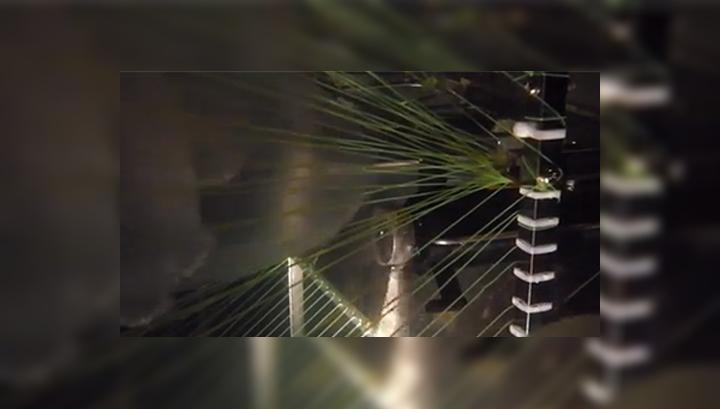 Робот включает насос и всасывает беспозвоночных в свои сети, где перемалывает их с помощью вращающихся ножей, напоминающих насадку в блендере