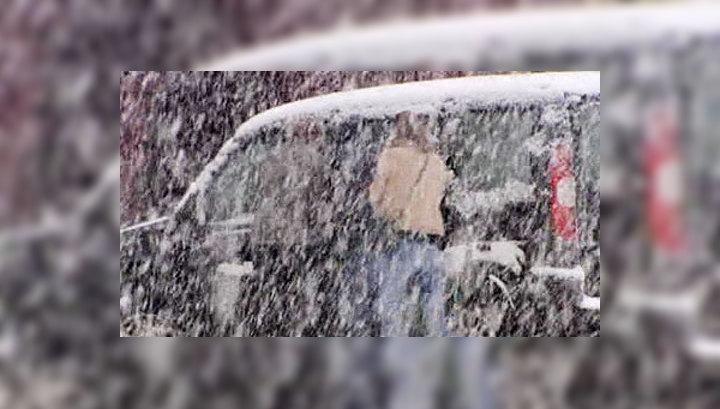 Центральную Европу неожиданно занесло снегом