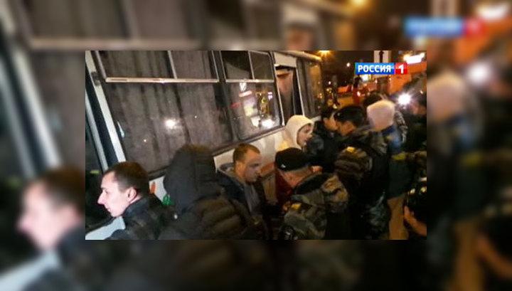 """У метро """"Пражская"""" задержаны 50 человек"""