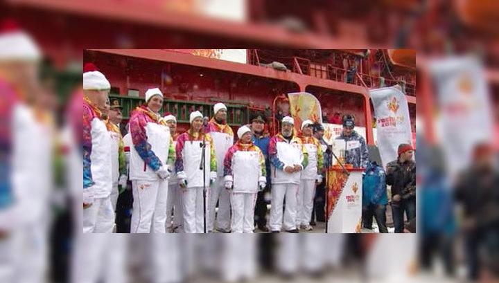 Время рекордов: олимпийский огонь на Северном полюсе