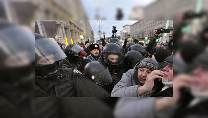 ОМОН разогнал Евромайдан в Киеве