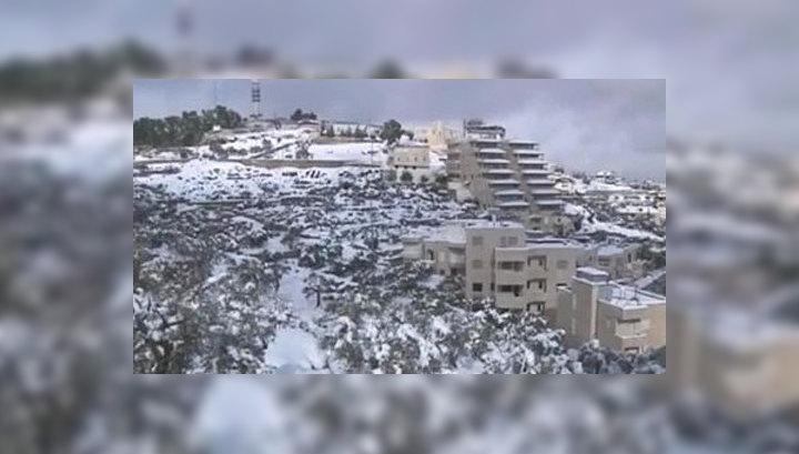 """Ближний Восток оказался в """"белом плену"""": в Египте впервые за сто лет выпал снег"""