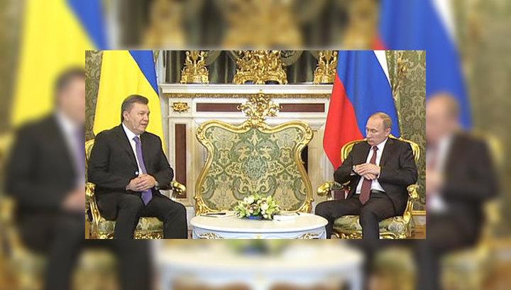 Путин и Янукович начали обсуждать сотрудничество Киева и Москвы