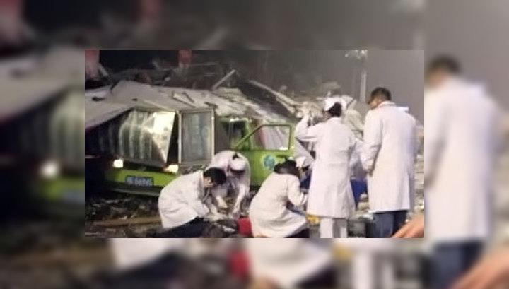Причиной взрыва в китайском Лучжоу была утечка газа