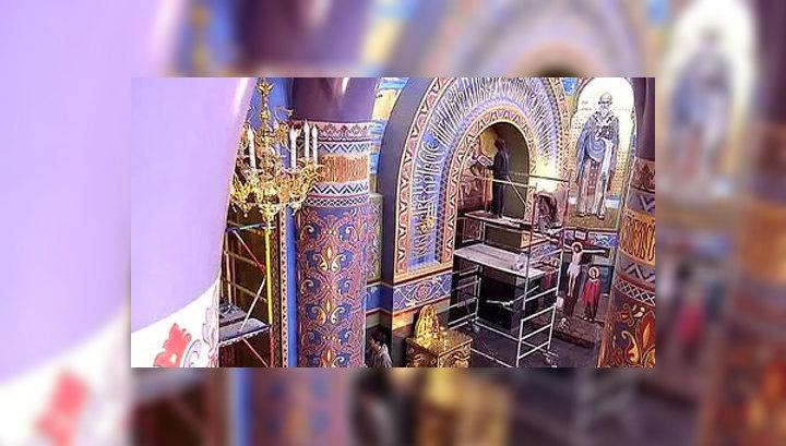 В Сочи у входа в Олимпийский парк к Рождеству освятили новый храм