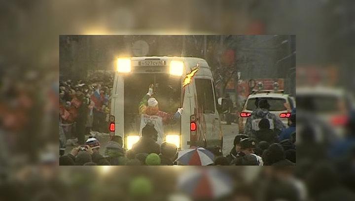 В Курске началась эстафета Олимпийского огня